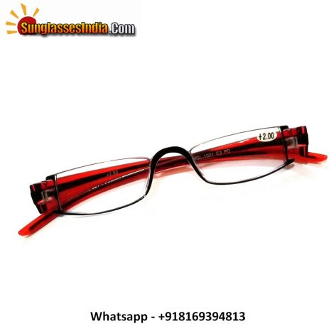 Designer Red Reading Glasses Power 200