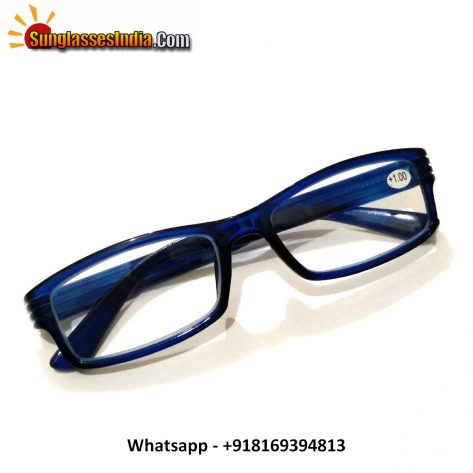 Blue Reading Glasses Power 100