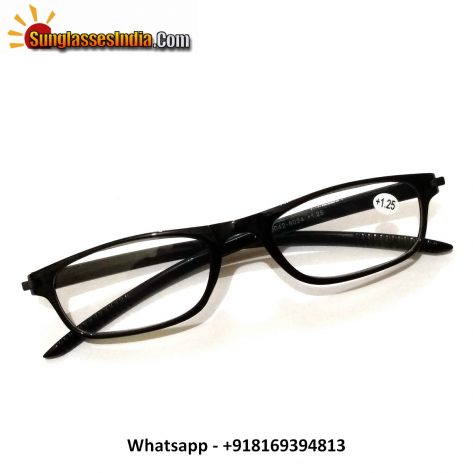 Black Reading Glasses Power 125