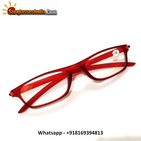 Red Reading Glasses Power 100