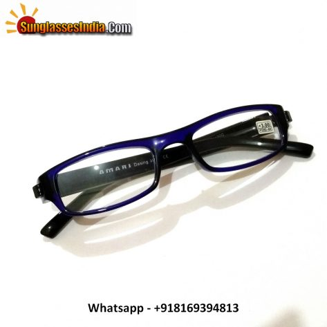 Blue Reading Glasses Power 300
