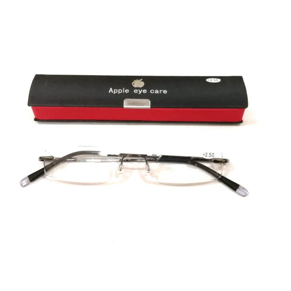Premium Black Slim Rimless Reading Glasses