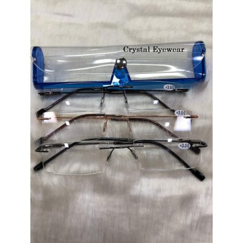Crystal Light Weight Rimless Reading Glasses