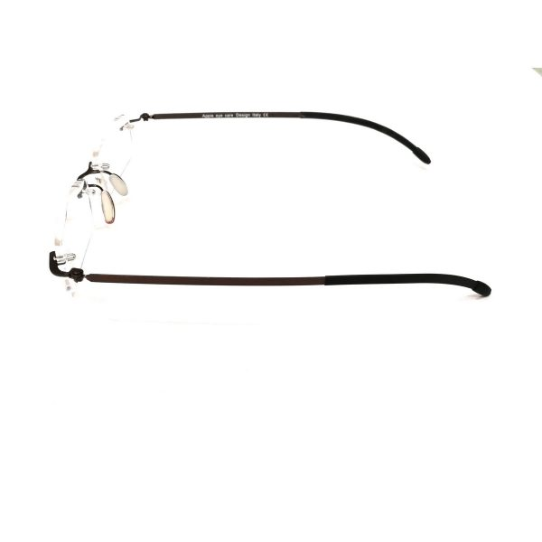 Premium Brown Rimless Reading Glasses