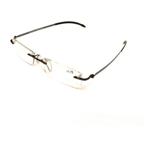 Premium Grey Rimless Reading Glasses