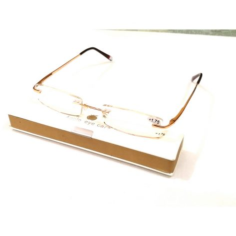 Premium Gold Slim Rimless Reading Glasses