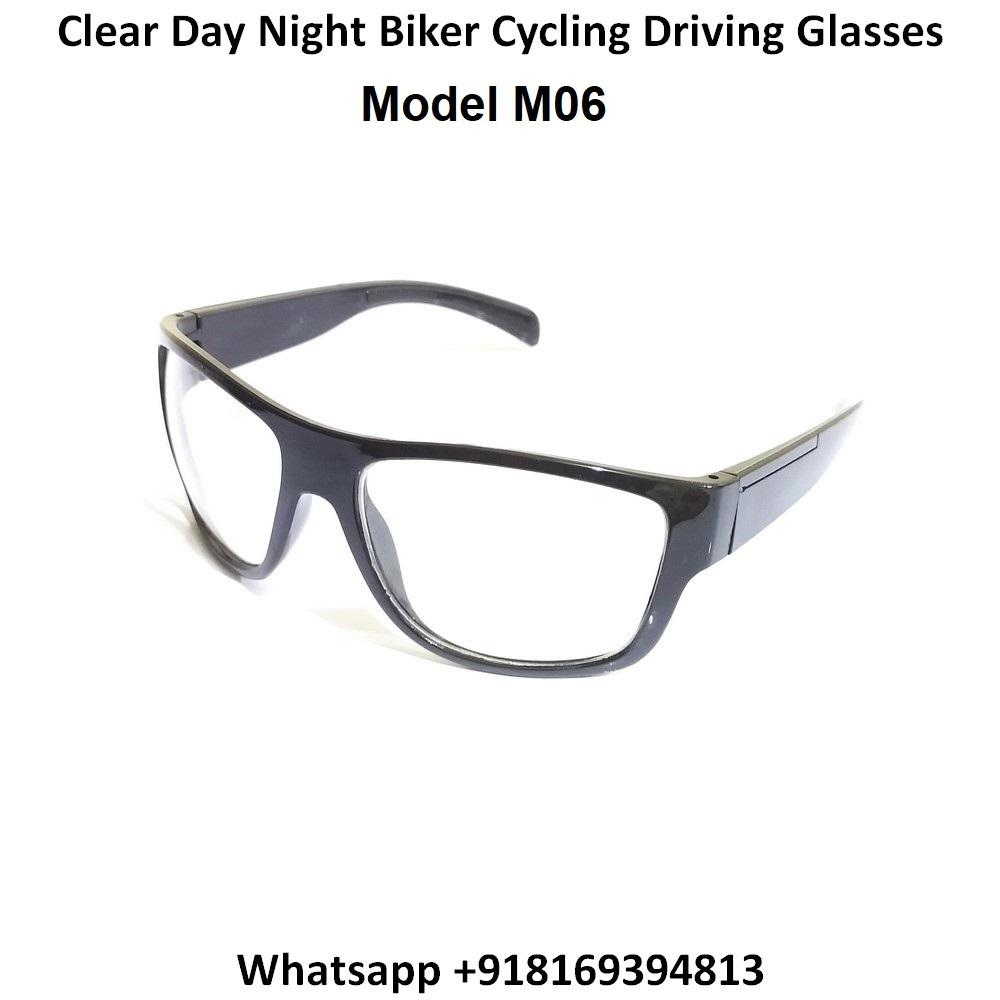 EYESafety Day Night Driving Glasses for Men and Women Sunglasses with Clear Lens M06