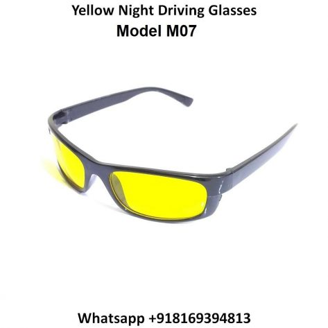 Night Driving Glasses for Men and Women Sunglasses with HD Yellow Lens M07