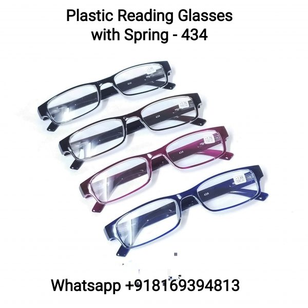 Plastic Reading Glasses with Spring 434
